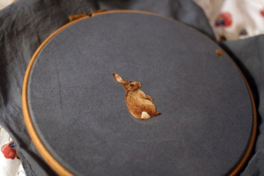 Beautiful Freehand Animal Embroidery
