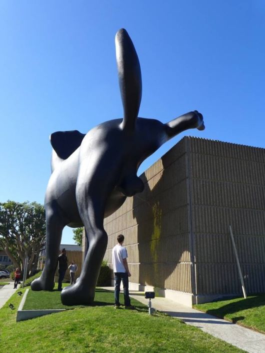 Giant Labrador Sculpture Marks Its Territory On A Museum