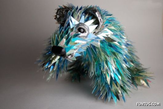 Greatest Sculptures Made Of Shattered CDs
