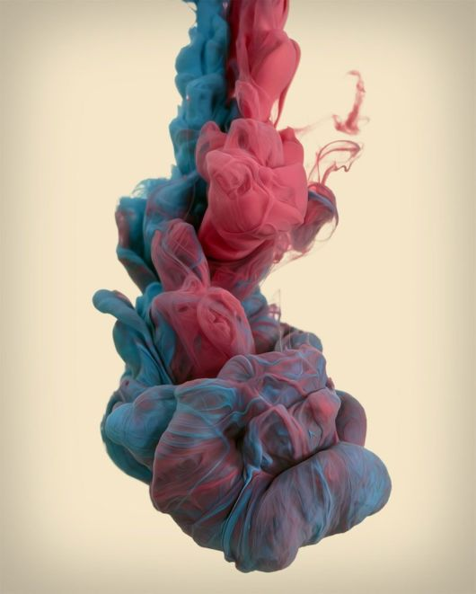 High Speed Photographs Of Ink Dropped Into Water