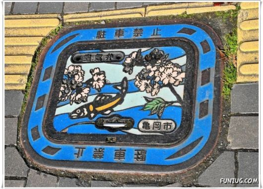 Creative Sewerage Hatchways From Japan