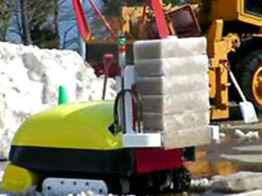 Robot That Ingest Snow And Chunks Out Ice Cubes