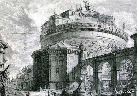 The Castel Sant'Angelo, Rome (Italy)