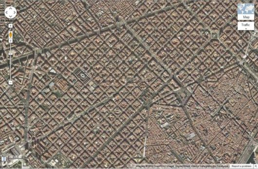Fantastic Aerial View Of Eixample, Barcelona