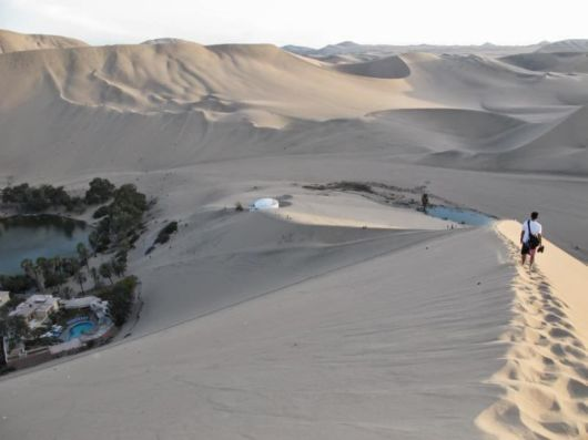 Beautiful Huacachina Desert Oasis In Peru