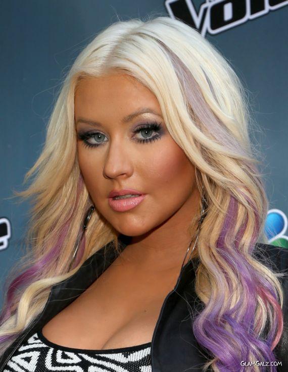 Christina Aguilera At The Voice Press Junket