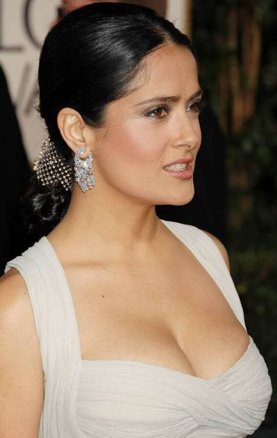 Salma Hayek at Golden Globes Awards 2009