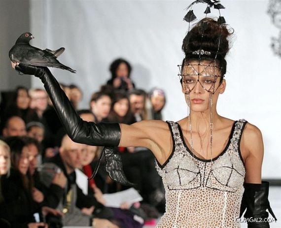 Models At The Paris Fashion Week