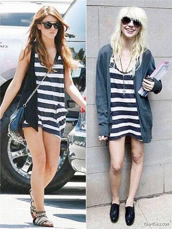 Funny Celebs Same Dresses