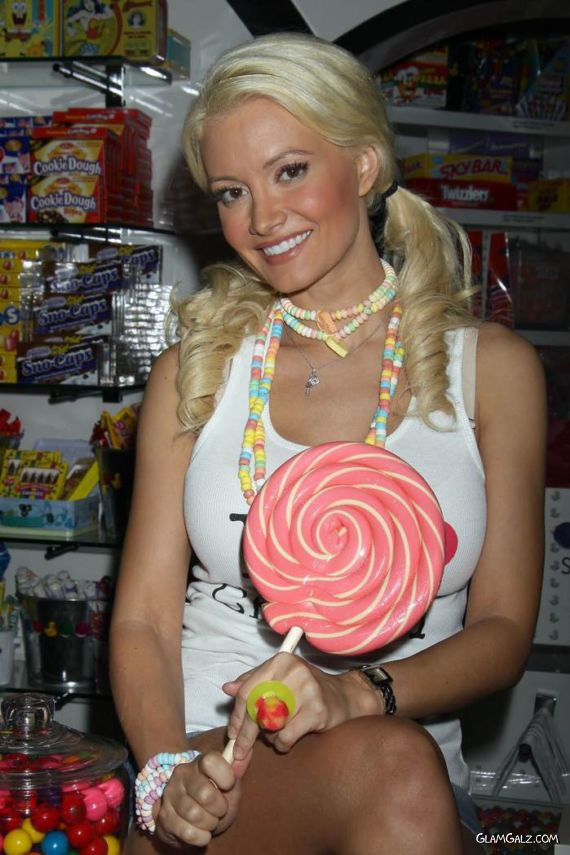 Holly Madison in Sugar Factory