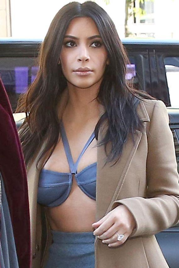 Miss Kardashian Sports Denim Style Dress