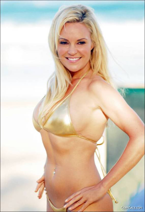 Bridget Marquardt in Golden Bikini