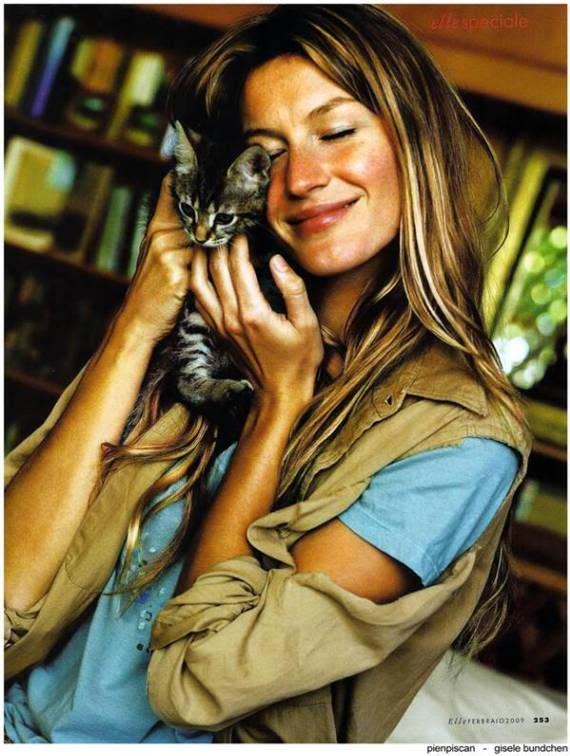 Lovely Gisele Bundchen in Elle Magazine