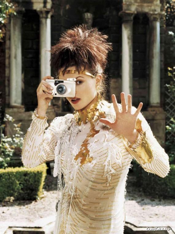 Helena Bonham Carter Posing for W Mag