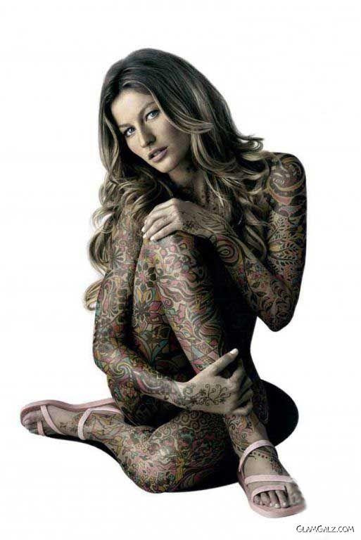 Gisele Bundchen Exclusive Tattoo Shoot