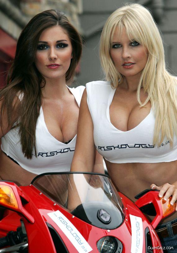 Biker Galz Lucy Pinder and Michelle Marsh