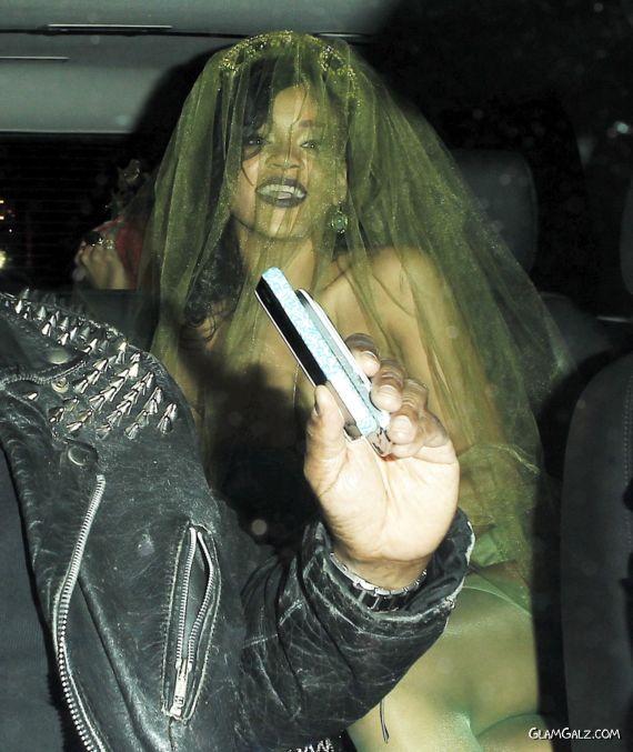 Rihanna At The Night Club Halloween Party
