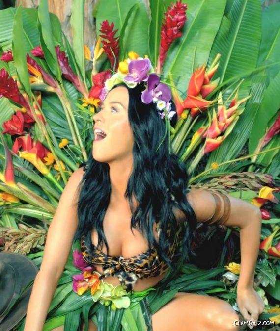 Katy Perry In Roar Music Video Stills