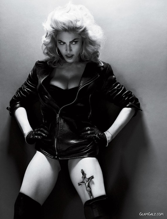 Glamorous Madonna in BnW Shoot