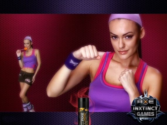 Click to Enlarge - The Axe Effect Galz Wallpapers