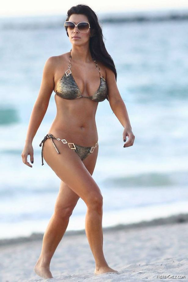 Miss Kardashian in Bikini at Miami