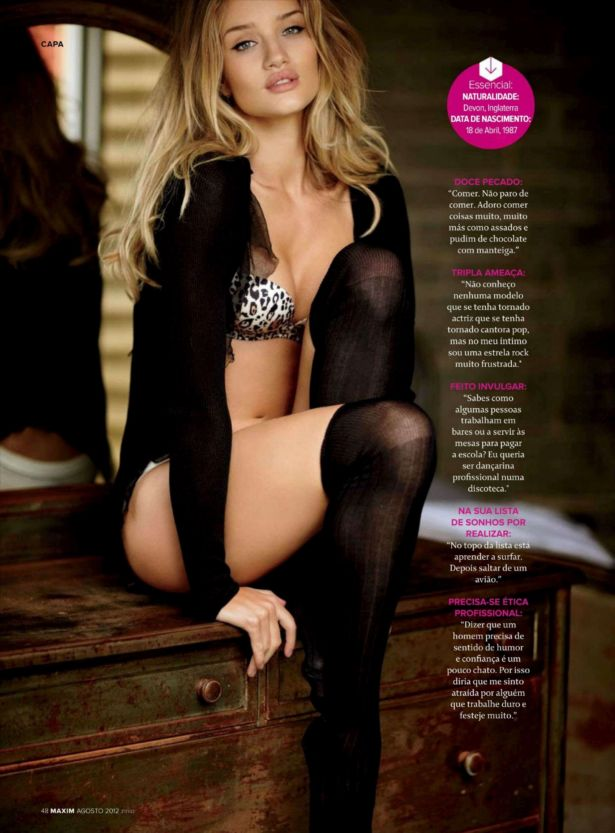 Rosie Huntington-Whiteley For Maxim Portugal