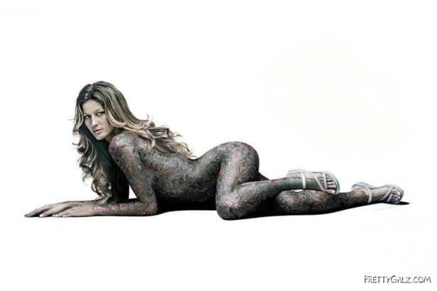 Gisele Bundchen Exclusive Tattoo Shoot