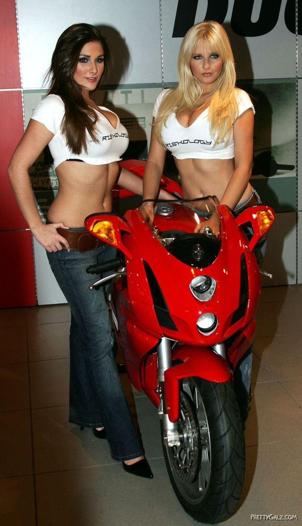 Biker Galz Lucy Pinder and Michelle Marsh